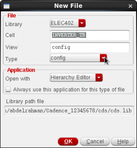 Figure 20 Create config view for the TB.