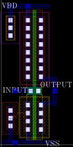 Figure 6 CMOS inverter full layout.